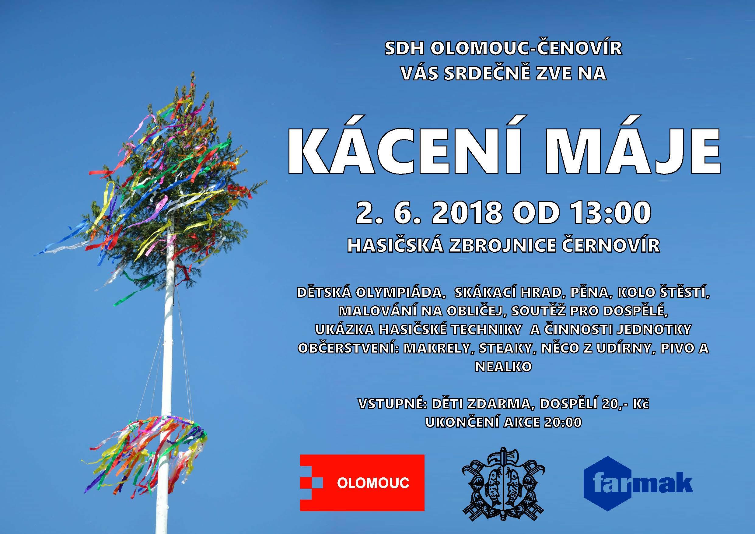 Kácení máje Černovír 2018.